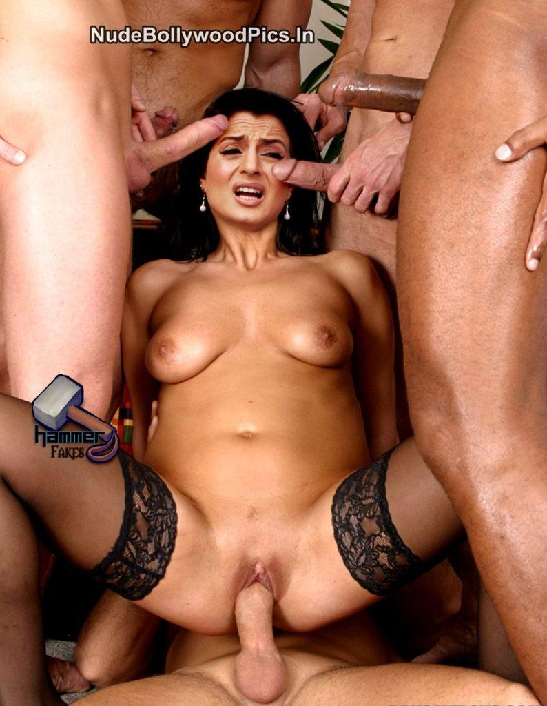 Ameesha Patel gangbang sex